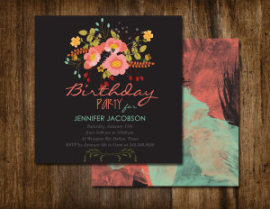 Vintage Flower tutorial turned Invitation Design